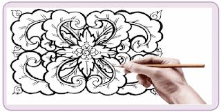 gambar hiasan dekoratif dengan menggunakan bentuk-bentuk tumbuhan www.simplenews.me
