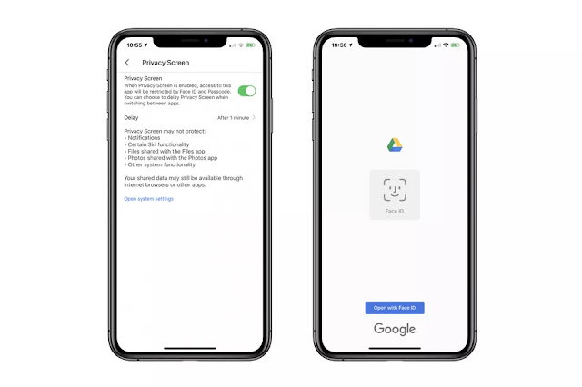 Google Drive Privacy Screen