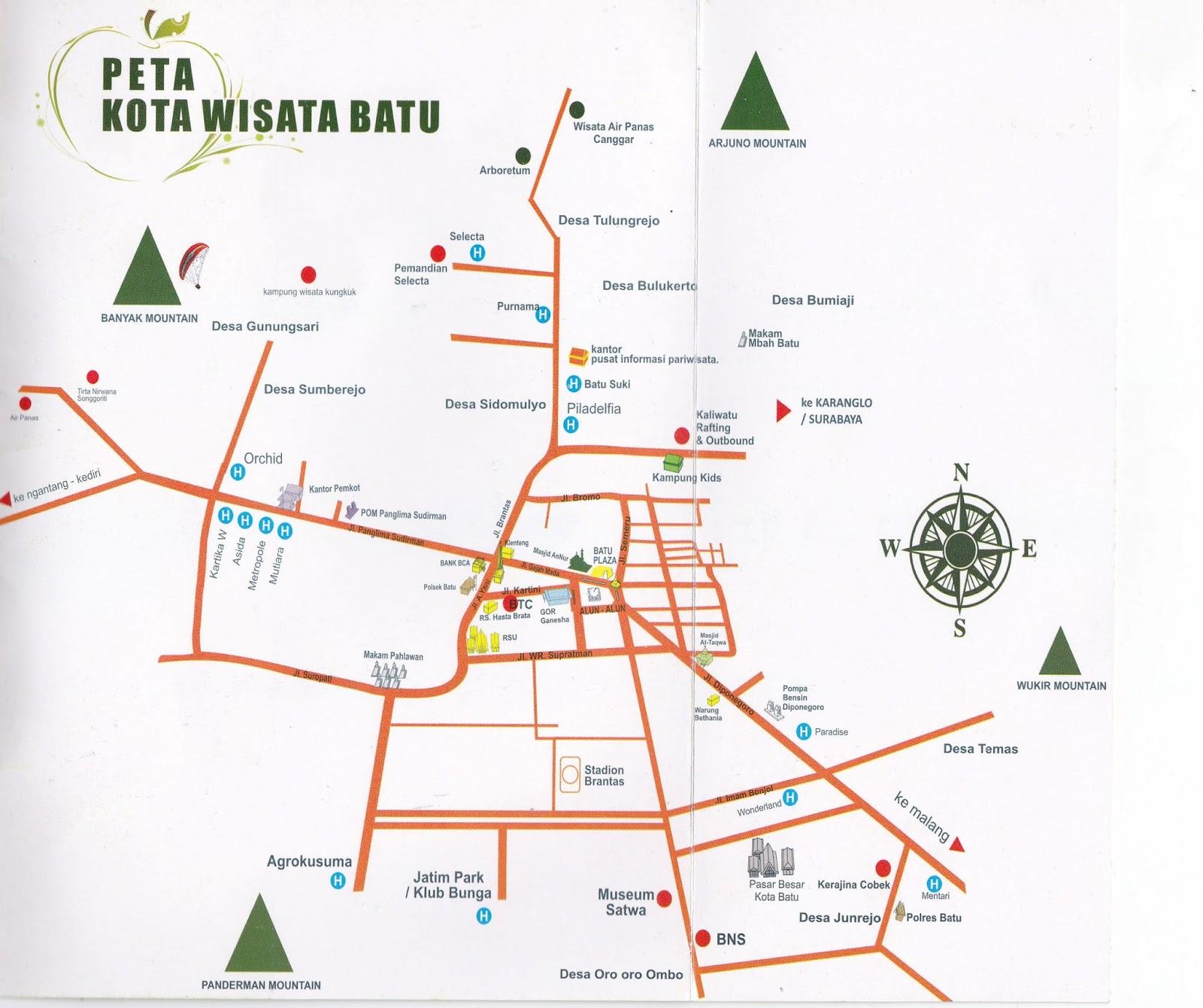 Map Malang Batu