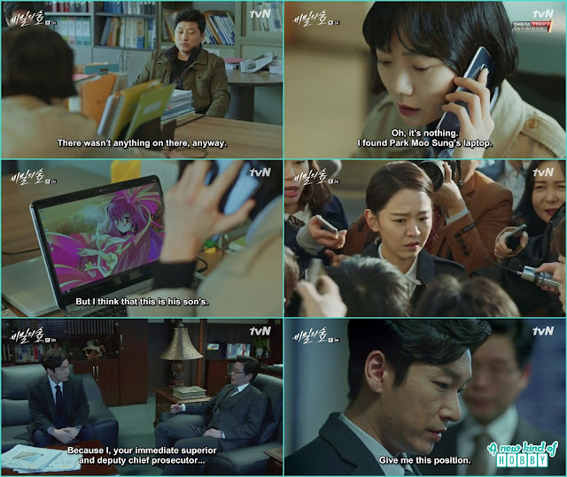 Eun soo in news for fabricating the evidence and shi mok ask deputy chief position from him - Secret Forest: Episode 2 korean Drama