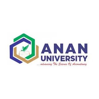 ANAN University Postgraduate Admission List 2021/2022