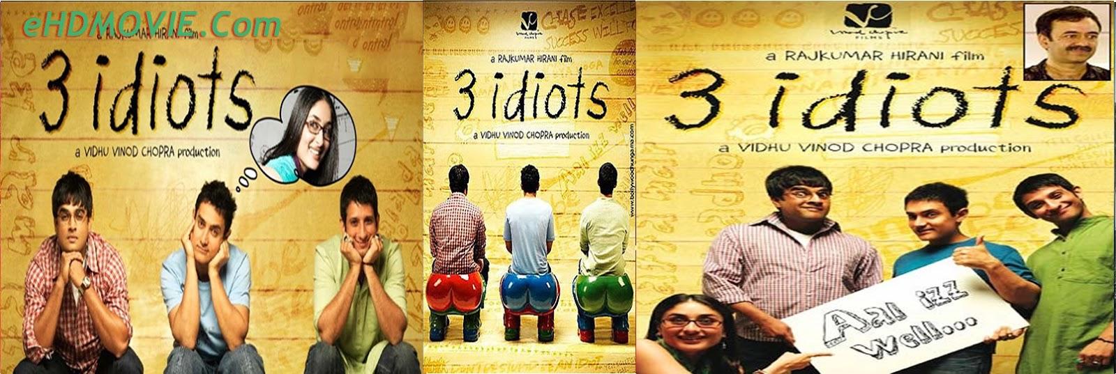 3 Idiots 2009 Full Movie Hindi 720p - HEVC – 480p ORG BRRip 500MB - 650MB - 1.3GB ESubs Free Download