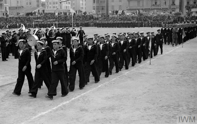 New Greek Navy recruits on parade in Alexandria, 25 March 1942 worldwartwo.filminspector.com