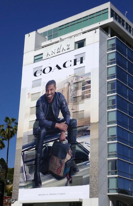 Michael B Jordan Coach billboard