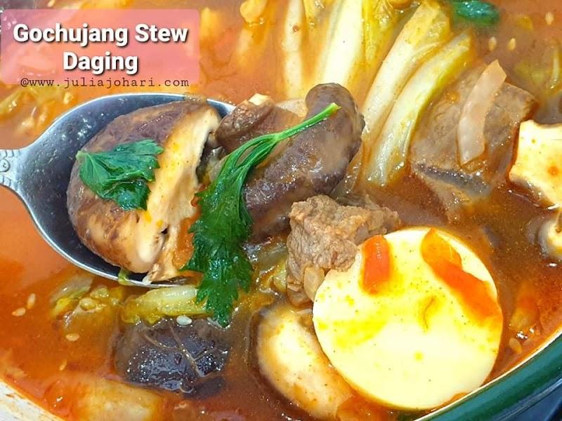 Resipi Korea Halal Gochujang Stew Daging