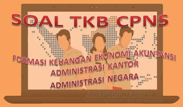 Soal Skb Cpns Formasi Keuangan Ekonomi Akuntansi