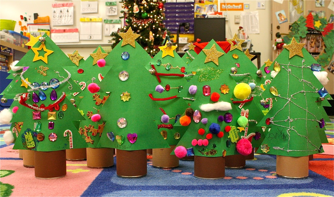 christmas tree craft ideas for kids tin can trees made everyday 7515