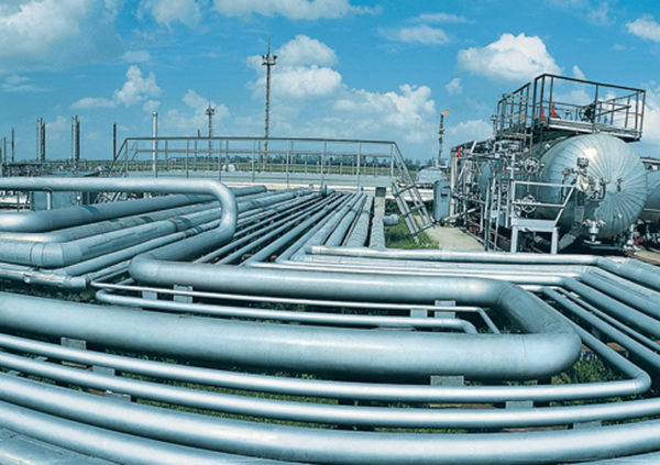 A completed gas project in Nigeria