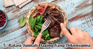 Batasi Jumlah Daging Yang Dikonsumsi merupakan salah satu tips sehat konsumsi daging saat Idul Adha