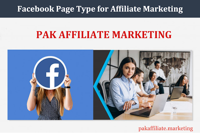 Facebook Page Type for Affiliate Marketing