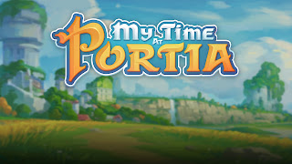 My Time at Portia Logo Wallpaper