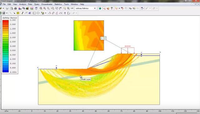 Cálculo de estabilización de taludes con slide