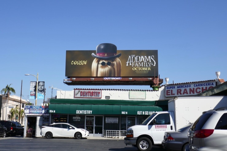 Addams Family Cousin Itt billboard