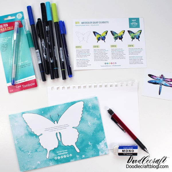 Tombow Creativity Kit comes with everything needed to create a project from start to finish
