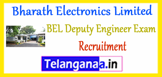 BEL Bharath Electronics Limited Recruitment Deputy Engineer Application 2017-18