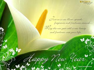 Happy New Year greetings handmade wishes