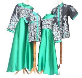 model baju batik couple keluarga simpel