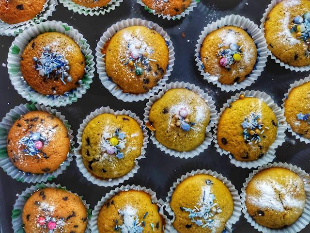 przepis na proste i szybkie muffinki- babeczki z czekoladą