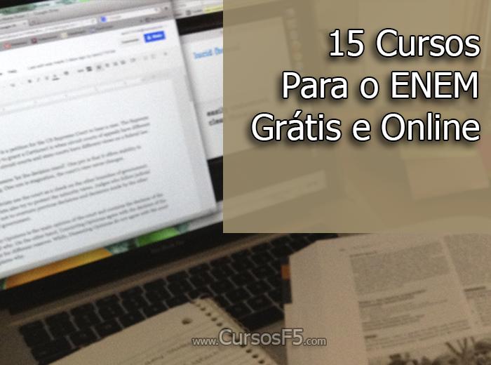 15 Cursos Para o ENEM Grátis e Online