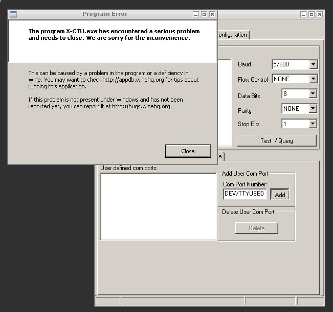 Upgrayd: Using Digi's X-CTU Application Under Linux To