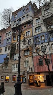 Hundertwasserhaus crazy property architecture in Vienna Austria