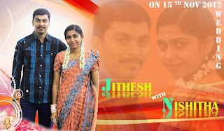 jithesh wedding card design