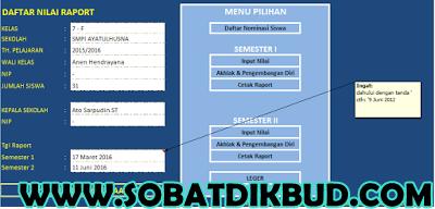 Aplikasi Excel Sederhana Untuk Rekap Nilai Rapot + Leger Jenjang SD, SMP, SMA Terbaru
