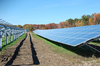 from the archives, the solar farm installation at St Mary's Abbey in Franklin