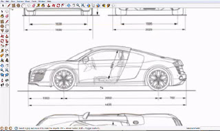 How to use Audi R8 Tracing in Google SketchUp | Drawing and Graphics