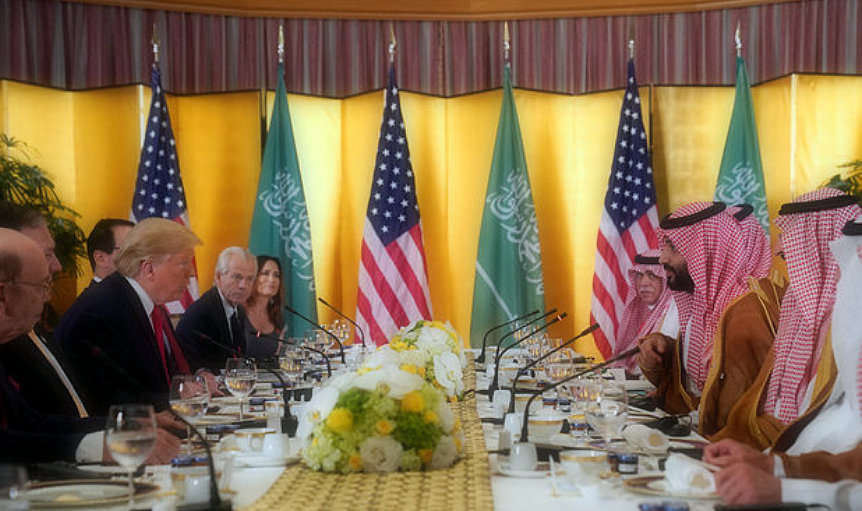 "Trump says that Saudi Crown Prince Mohammed bin Salman is ""my friend"""