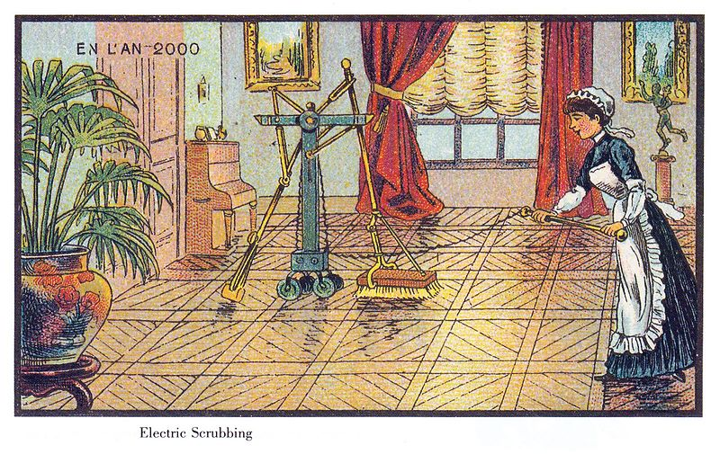 09-Electric-Scrubbing-Jean-Marc-Cote-En-L-An-2000-wikimedia-Futurism-with-Illustrated-Postcards-from-the-1900s-www-designstack-co