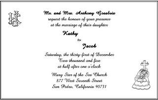 Wedding Invitation Sample Wording
