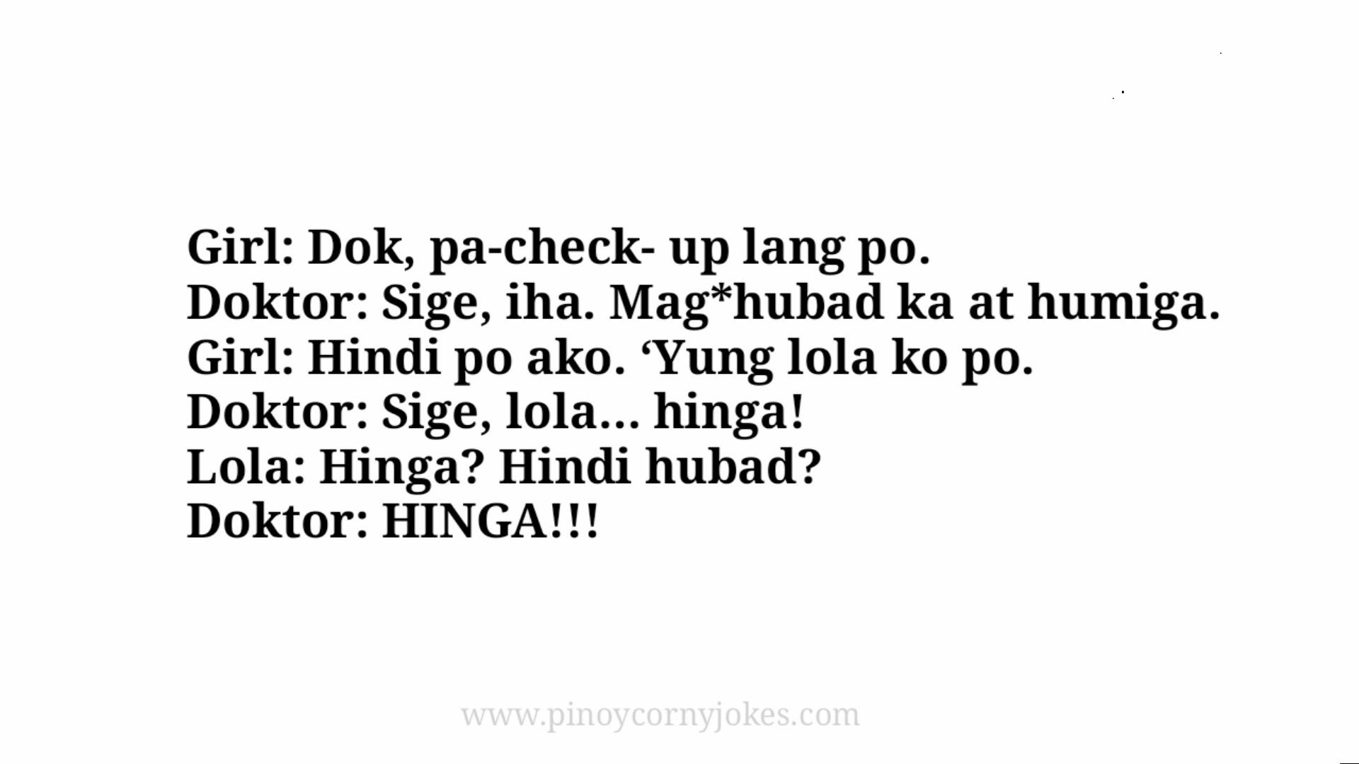 lola tagalog jokes doktor