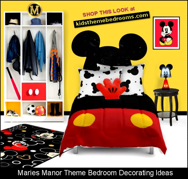 mickey mouse bedroom decor Mickey Room Ideas  mickey mouse bedroom set