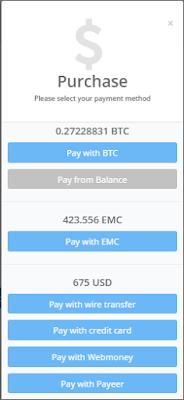 Phương thức thanh toán Hashflare