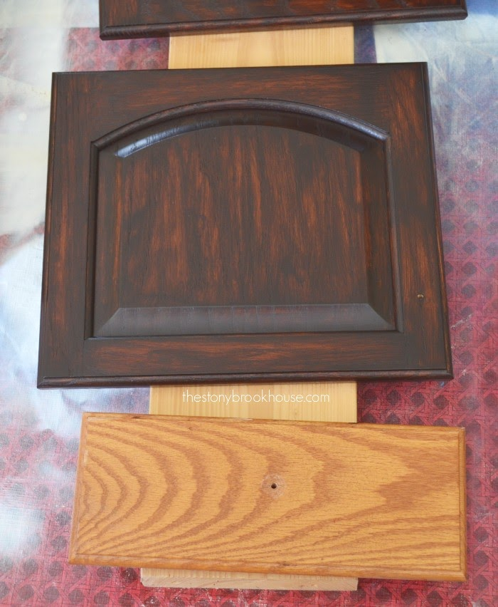 3rd coat of General Finishes Java Gel Stain vs before