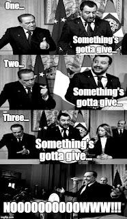 """Una delle tante ;) versioni del meme che stanno spopolando su Internet in questi giorni. Le immagini sono speculari rispetto agli originali per agevolare la lettura delle battute """"a fumetto""""."""