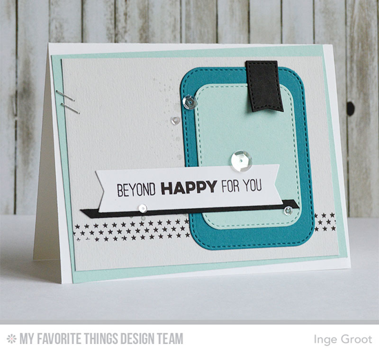 Beyond Happy Card by Inge Groot featuring the Totally Happy stamp set and the Stitched Rounded Rectangle STAX and Blueprints 12 Die-namics #mftstamps