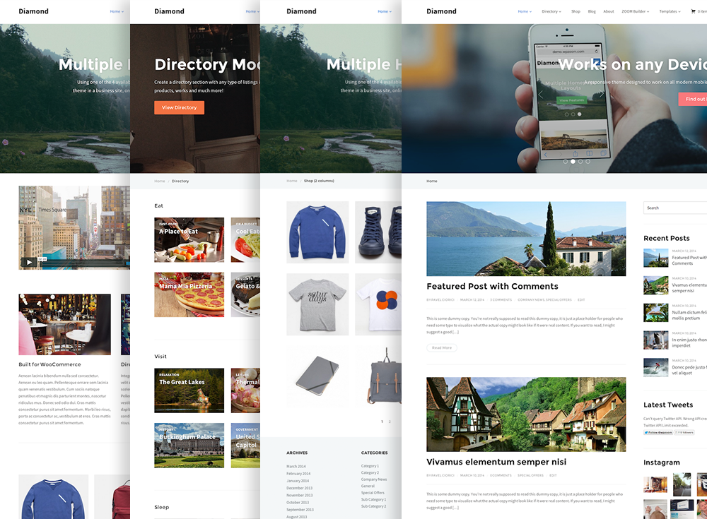 Diamond Business / Directory / WooCommerce WordPress Theme - WPZOOM ...