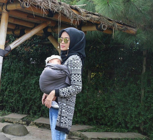 Gendongan Ring Sling Linen Premium Nana Baby Carrier