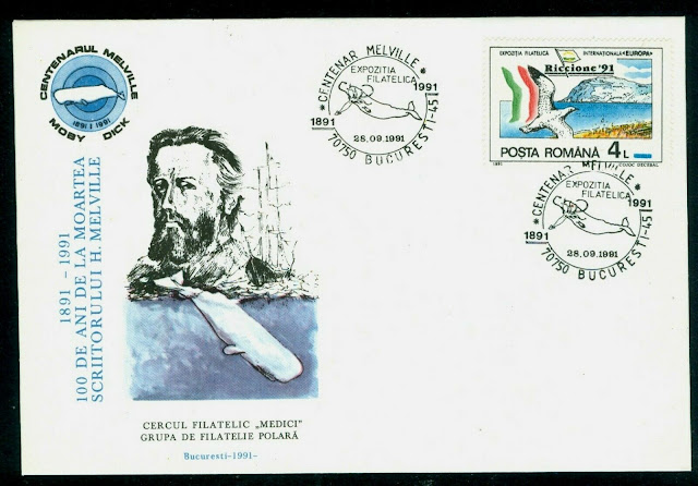 1991 H.Melville,Moby Dick The whale book,whaling fishing ship,Romania,
