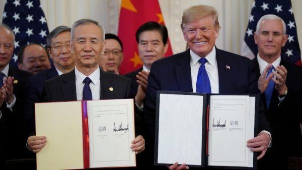 China y EE.UU. disminuyen tensión tras firma de acuerdo fase 1