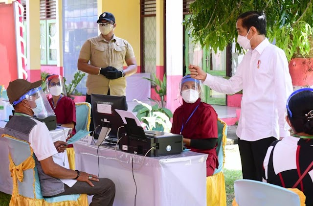 Presiden Jokowi: Distribusi Vaksin Merata ke Seluruh Tanah Air