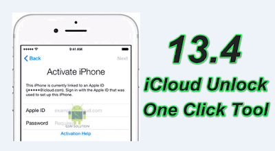 13.4 iCloud Activation Lock Bypass Tool One Click Unlock.