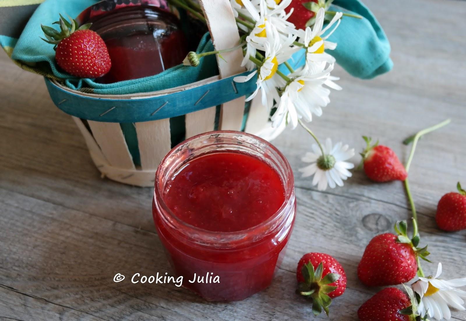 confiture de fraise non liquide