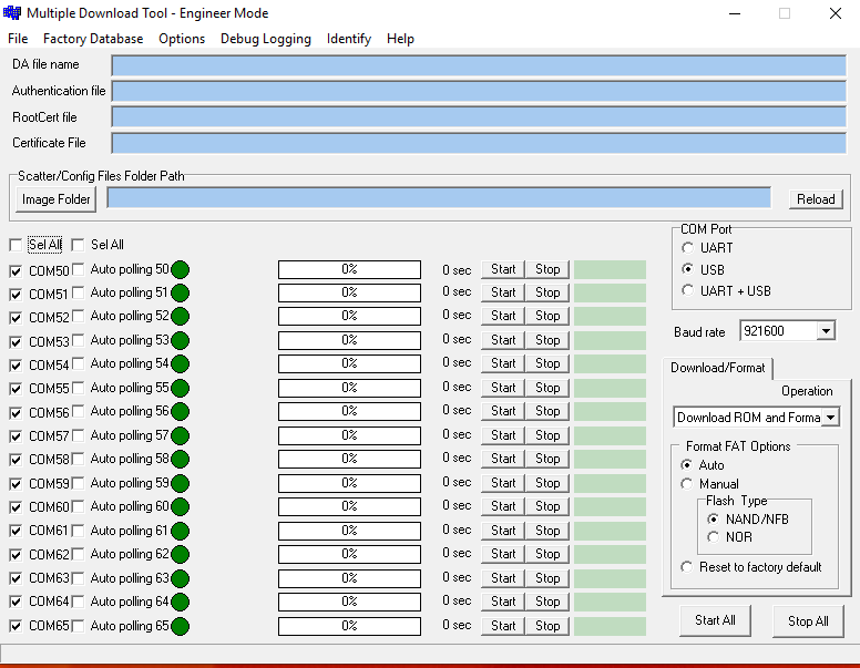 Official Multi port download tool:MTK - Newcellcare