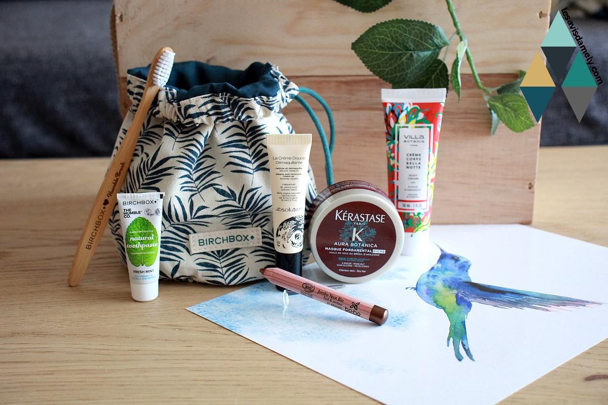 avis et revue box beauté mensuelle Birchbox Green naturelle et bio