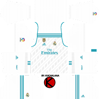 Real Madrid home Kits 2017/2018 - Dream League Soccer