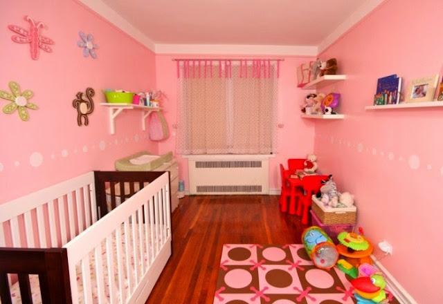 baby girl nursery wall painting ideas