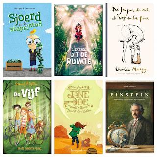 Gelezen jeugdboeken: Sjoerd en de stapelstad van Barry Menger; Sleutel der zielen van Jeremy Lachlan, De Vijf en de geheime gang van Enid Blyton, Einstein van Torben Kuhlmann